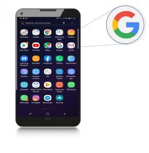 Abbildung: Google Search App auf dem Smartphone